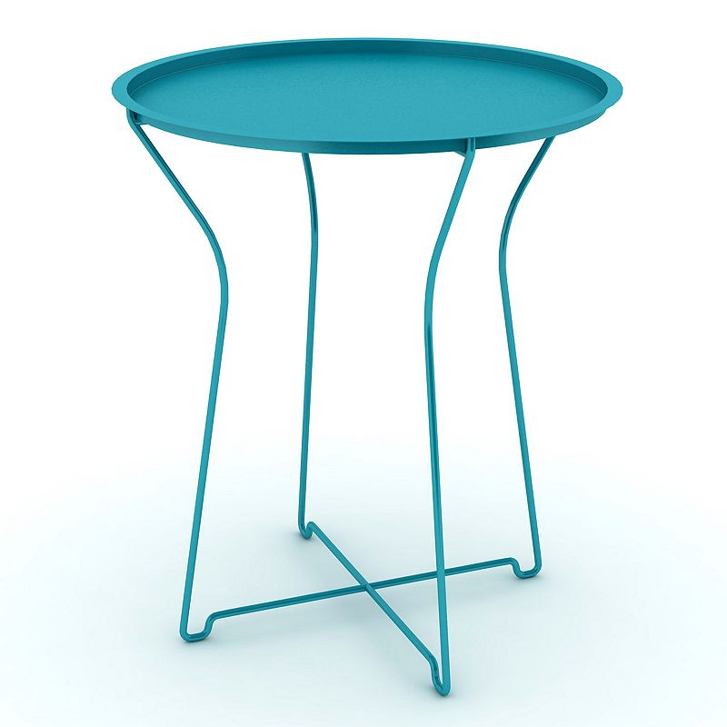 dar Round Metal Side Table
