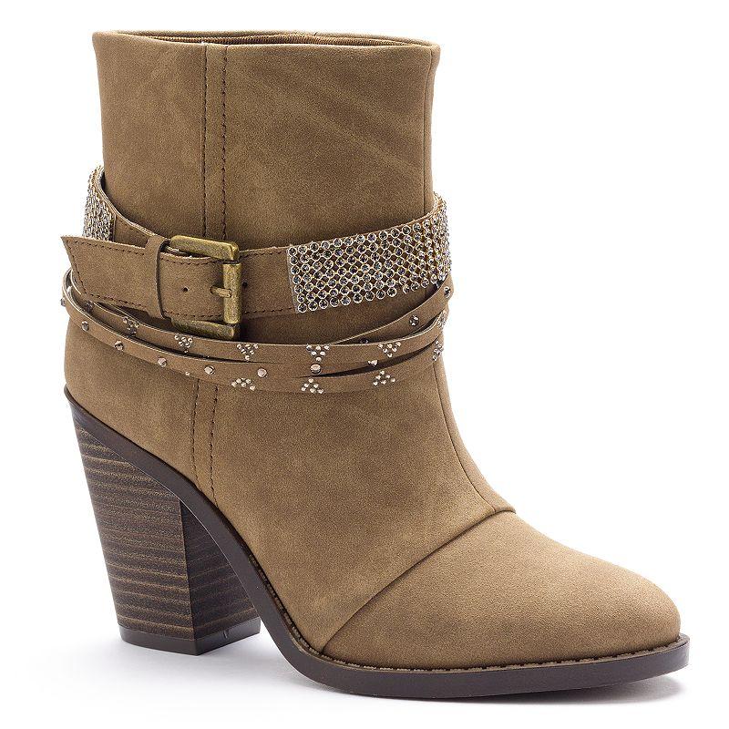 Unionbay Kadee Women's Western Heeled Ankle Boots