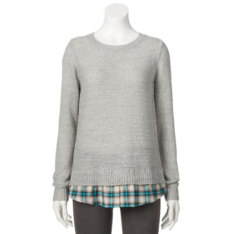 Women's SONOMA Goods for Life™ Mock-Layer Crewneck Sweater