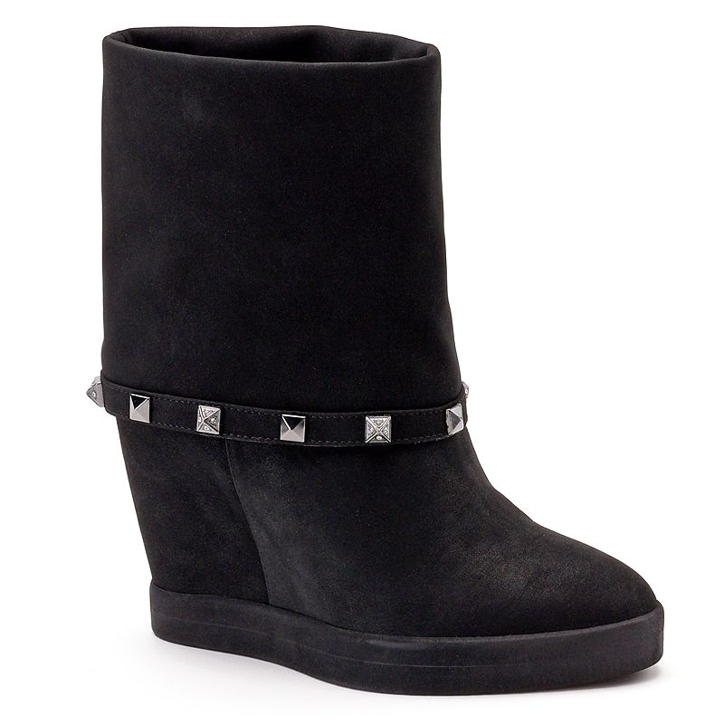 Jennifer Lopez Women's Studded Hidden Wedge Ankle Booties