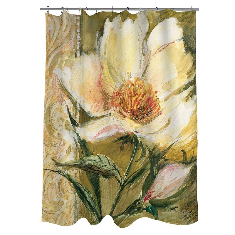 Thumbprintz Sketchbook Floral Fabric Shower Curtain