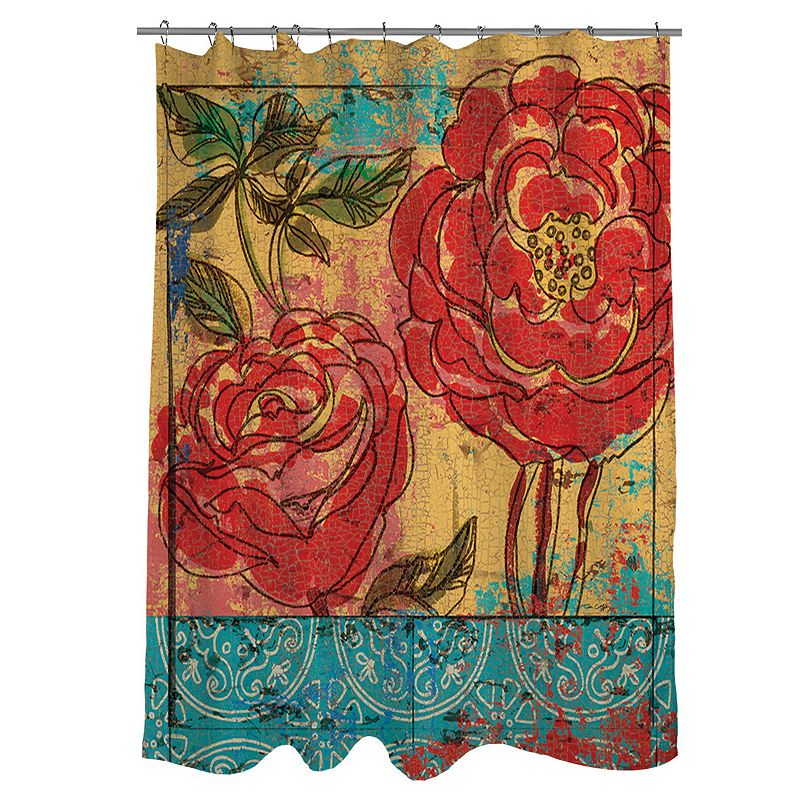Thumbprintz Valencia 3 Fabric Shower Curtain