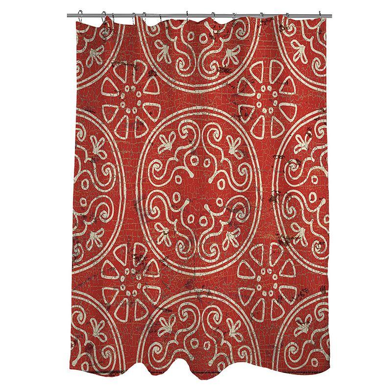 Thumbprintz Valencia Medallion Fabric Shower Curtain