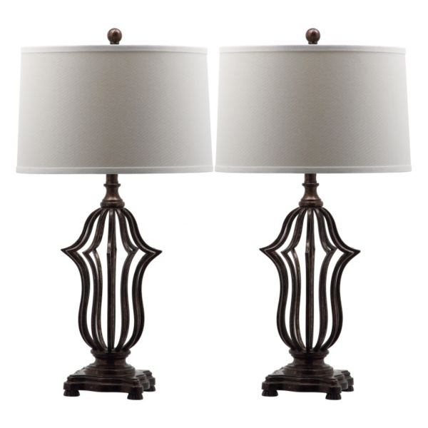 Safavieh 2-piece Chloe Sculpture Table Lamp Set