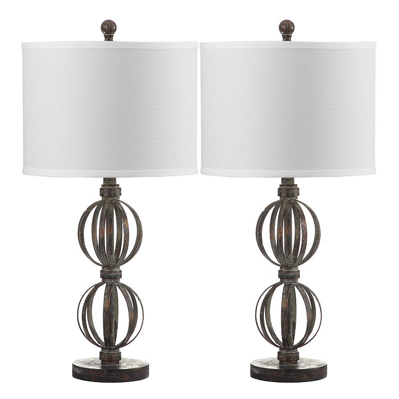 Safavieh 2-piece Calista Double Sphere Table Lamp Set