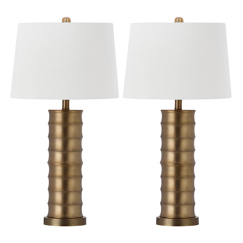 Safavieh 2-piece Linus Column Table Lamp Set