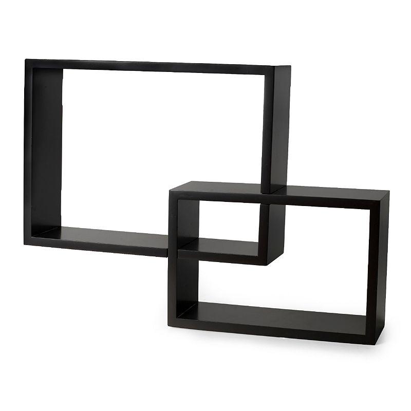 Melannco 2 piece overlapping cubes wall decor set dealtrend - Cube wall decor ...