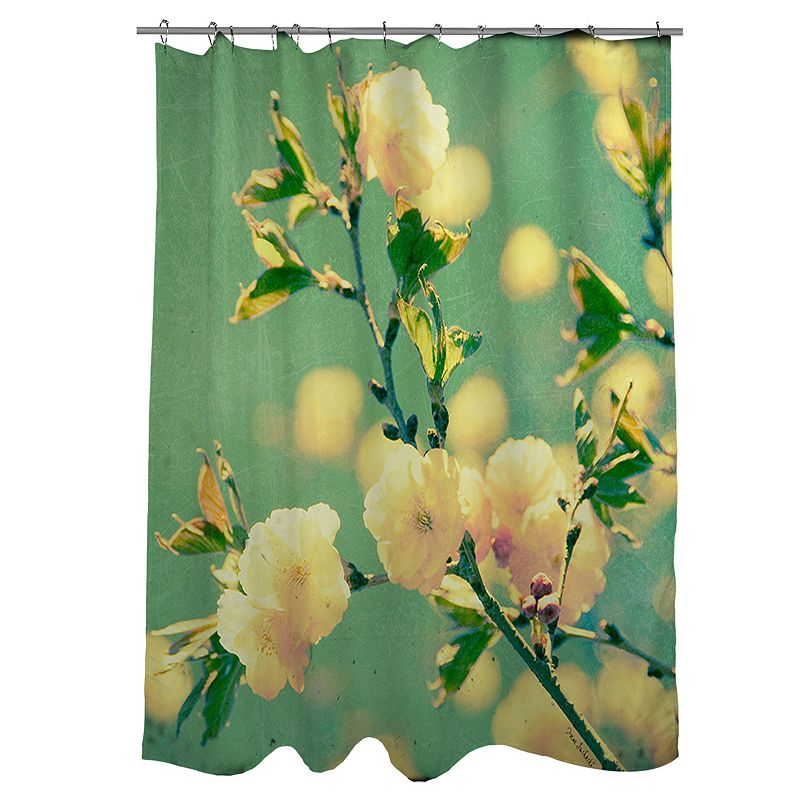 Thumbprintz Vintage Botanicals Fabric Shower Curtain