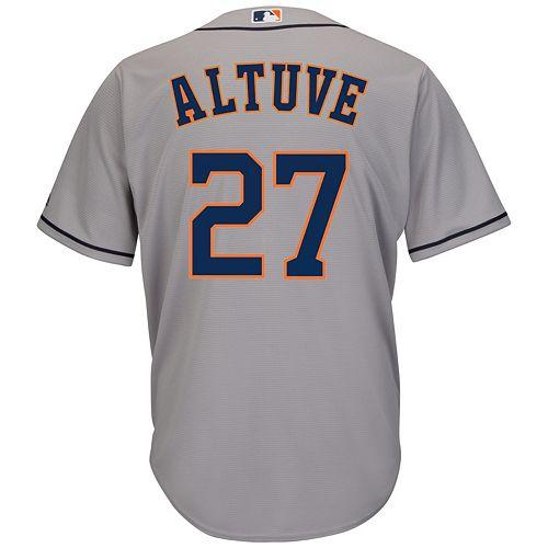 24aa2d293 Men s Majestic Houston Astros Jose Altuve Cool Base Replica MLB Jersey