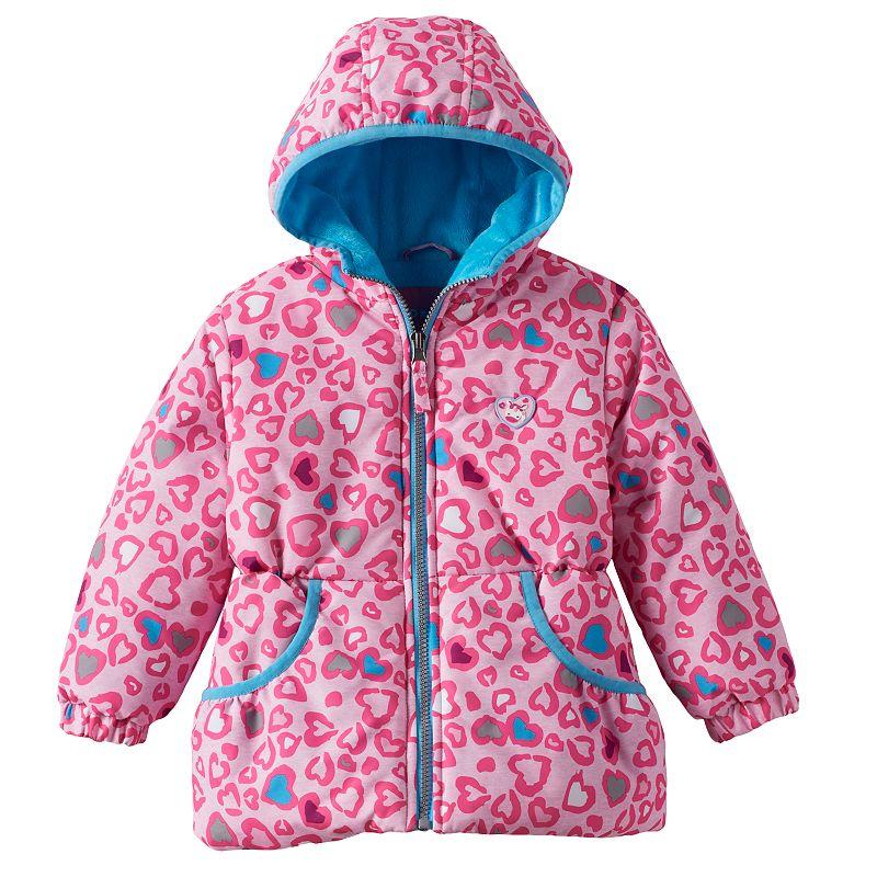 Toddler Girl Wippette Heart Hooded Puffer Jacket