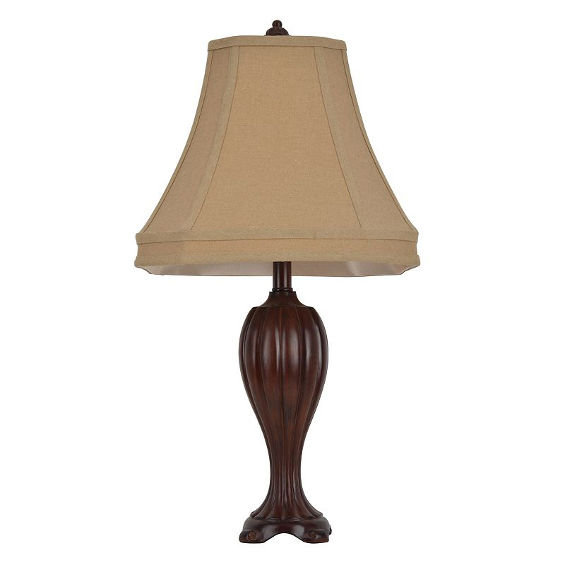 Decor Therapy Curved Carved Table Lamp