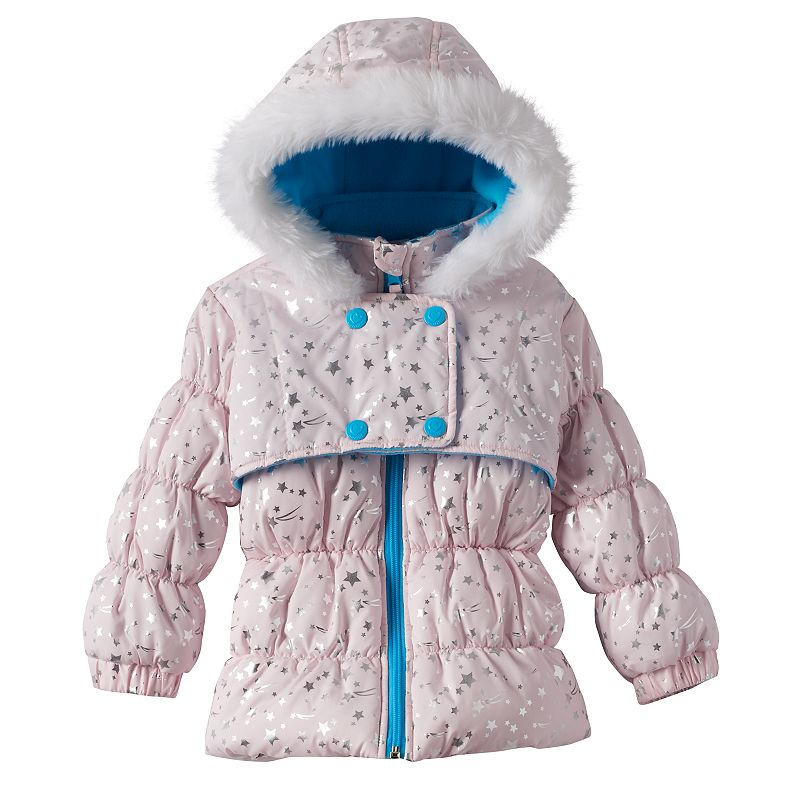 Wippette Foiled Star Hooded Puffer Jacket - Baby Girl