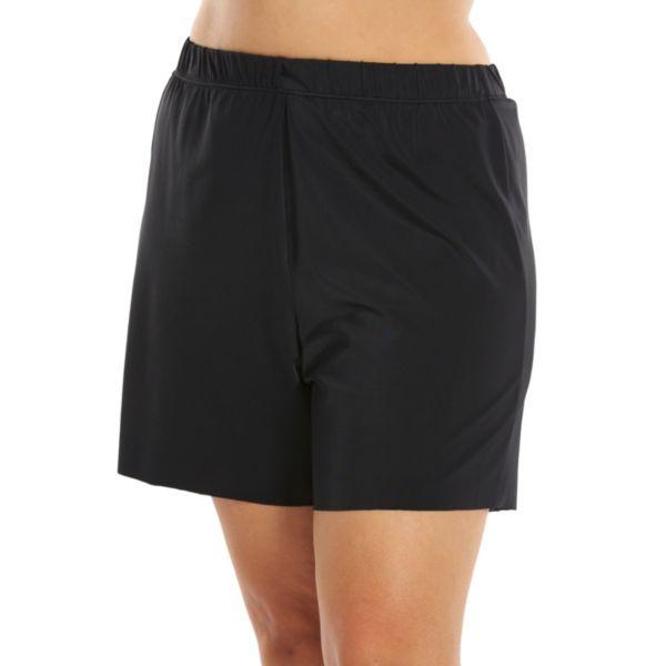 Plus Size A Shore Fit Hip Solutions Swim Short Bottoms