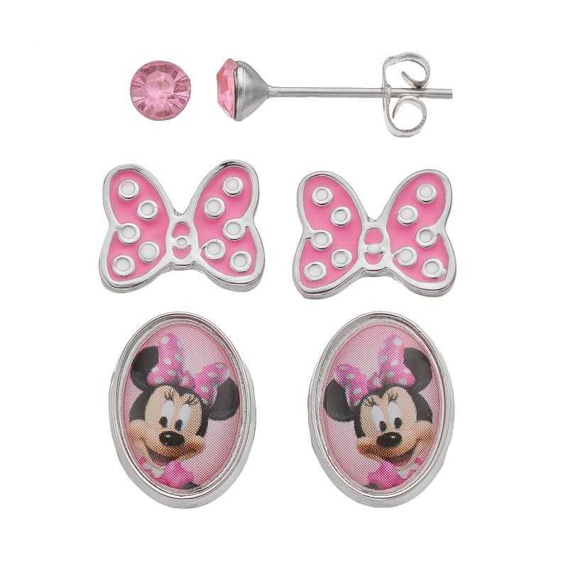 Butterfly crystal earrings kohl 39 s for Minnie mouse jewelry box