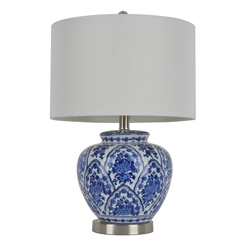 Decor Therapy Floral Ceramic Table Lamp