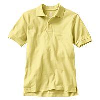 Boys 8-20 Chaps Solid Pique School Uniform Polo