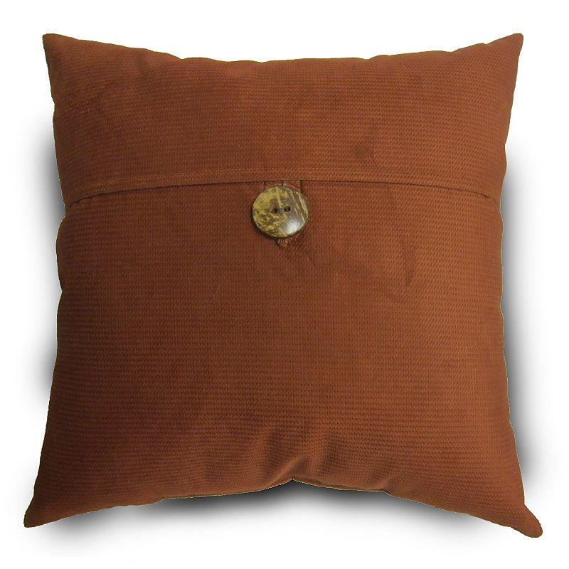 Topcord Button Throw Pillow