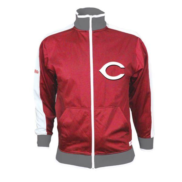 Men's Stitches Cincinnati Reds Track Jacket