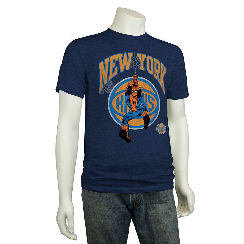 Men's New York Knicks Spider-Man Webslinger Tee