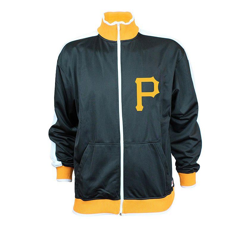 Men's Stitches Pittsburgh Pirates Tricot Track Jacket