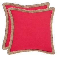 Safavieh 2-piece Sweet Sorona Throw Pillow Set