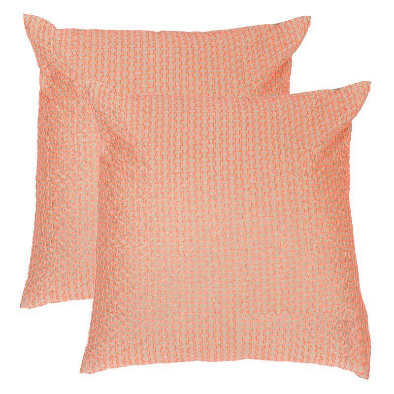 Safavieh 2-piece Box Stitch Throw Pillow Set