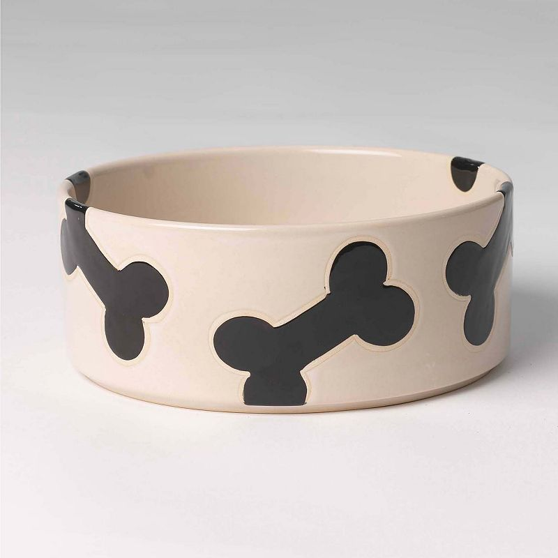 PetRageous Designs 6-Cup Slicker Bones Pet Bowl