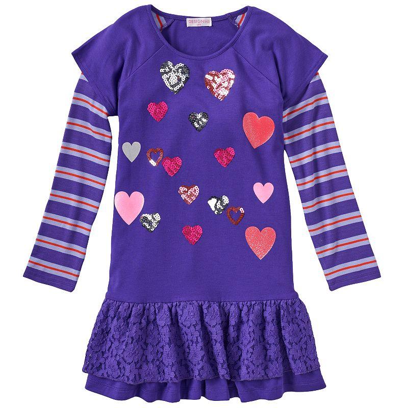 Design 365 Mock-Layer Drop-Waist Dress - Toddler Girl