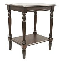 Decor Therapy Simplify Carved Leg End Table