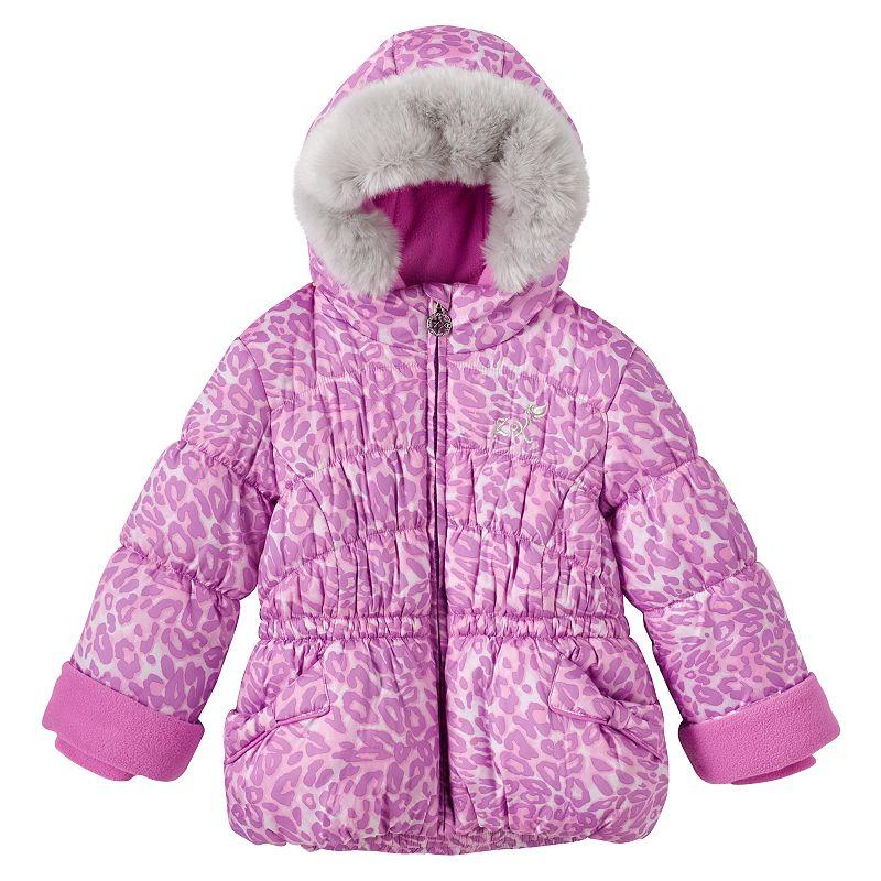 Toddler Girl ZeroXposur Cheetah Puffer Jacket