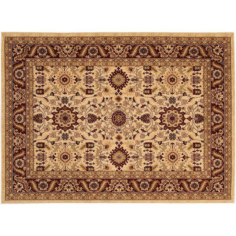 Couristan Anatolia Antique Kashan Framed Floral Rug