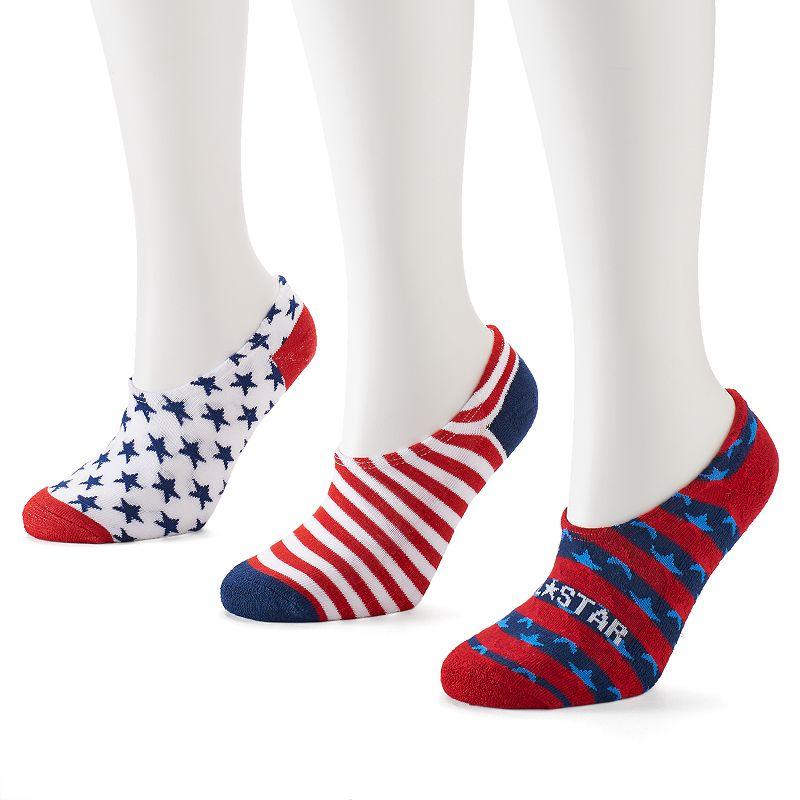 Converse Made For Chucks 3-pk. Stars No-Show Socks - Women
