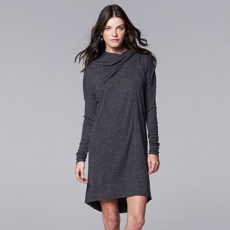 Women's Simply Vera Vera Wang Cowlneck Tunic Dress
