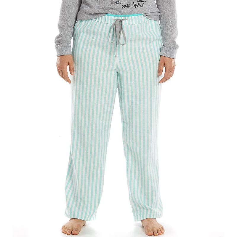 Plus Size SONOMA Goods for Life™ Pajamas: Starry Night Flannel Pajama Pants