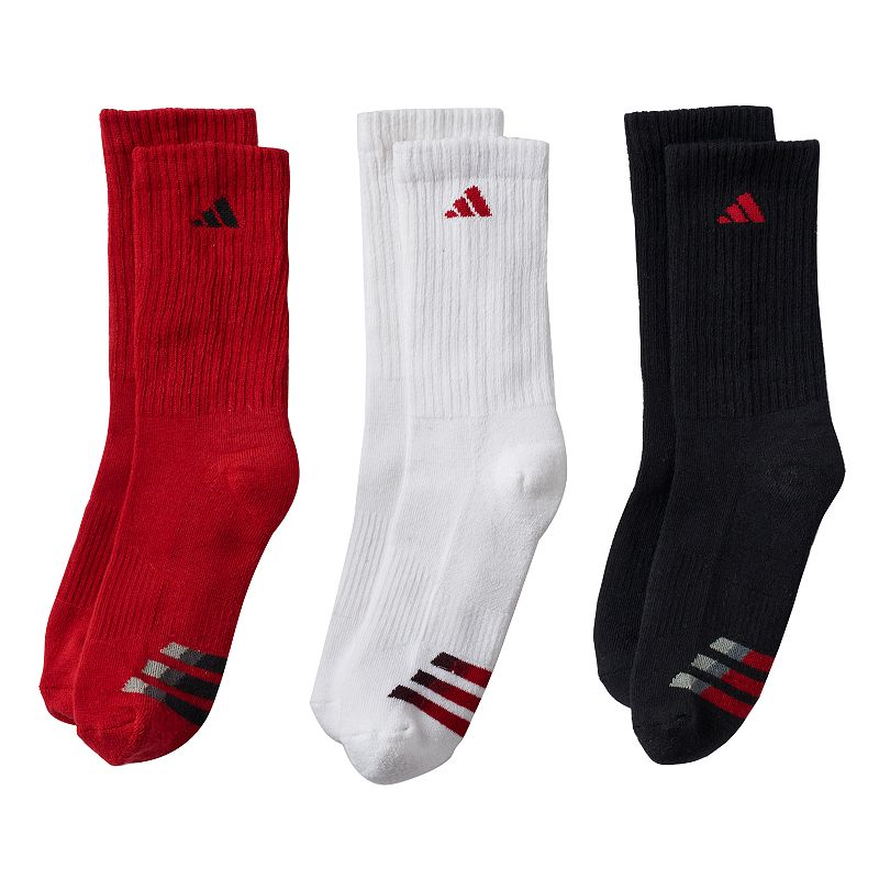 Boys 8-20 adidas 3-pk. ClimaLite Compression Crew Socks