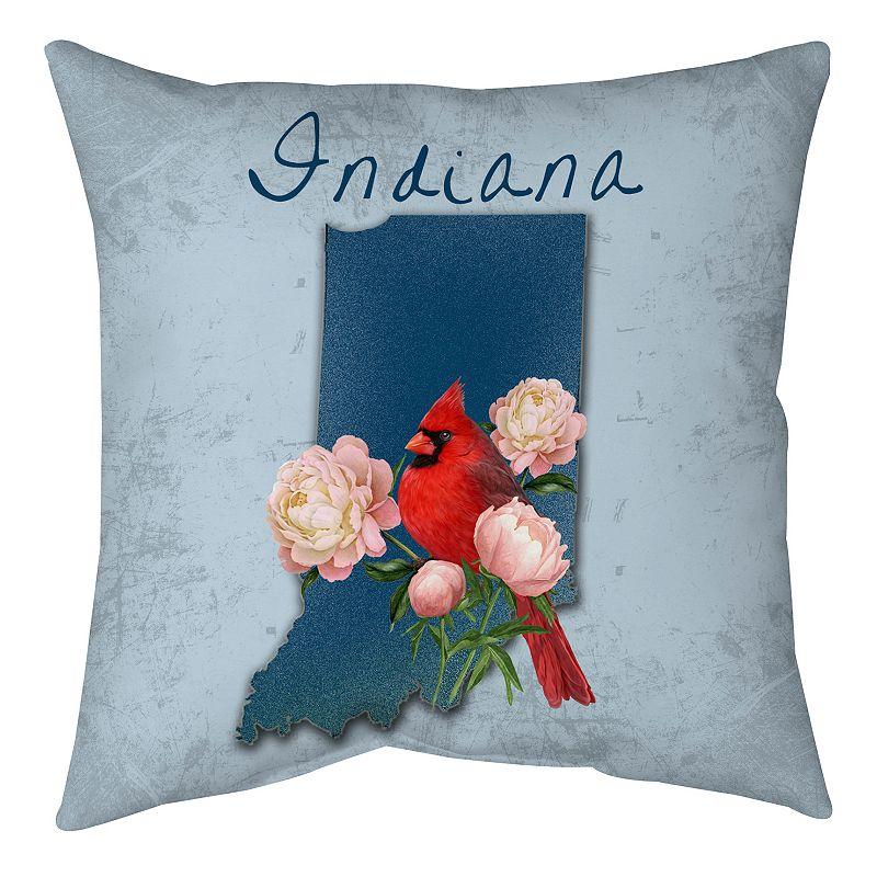 'Indiana'' State Throw Pillow