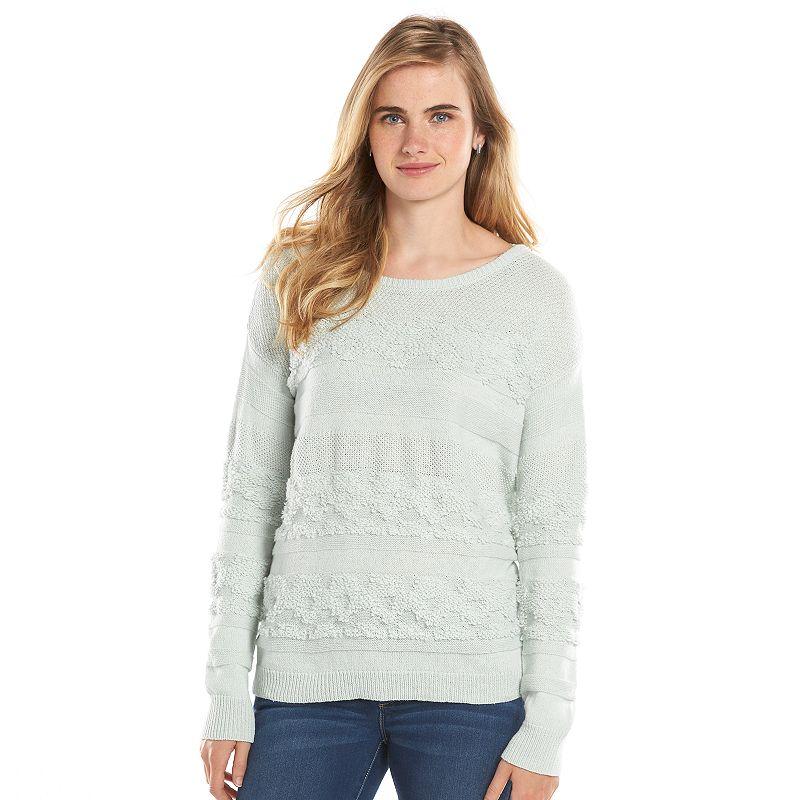 Women's LC Lauren Conrad Textured Drop-Shoulder Crewneck Sweater