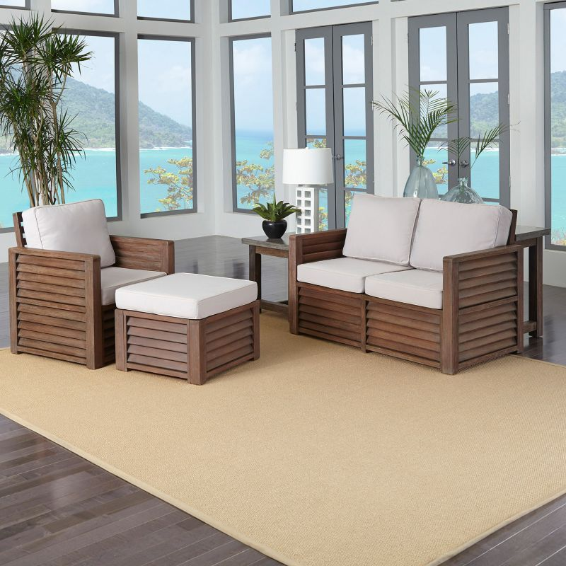 Outdoor Home Styles 4-piece Barnside Living Room Set, Brown thumbnail