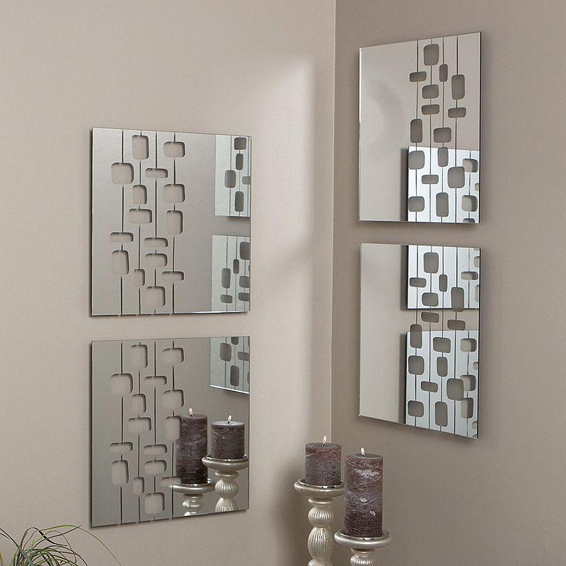 nexxt 4-piece Mosaic Geometric Wall Mirror Set