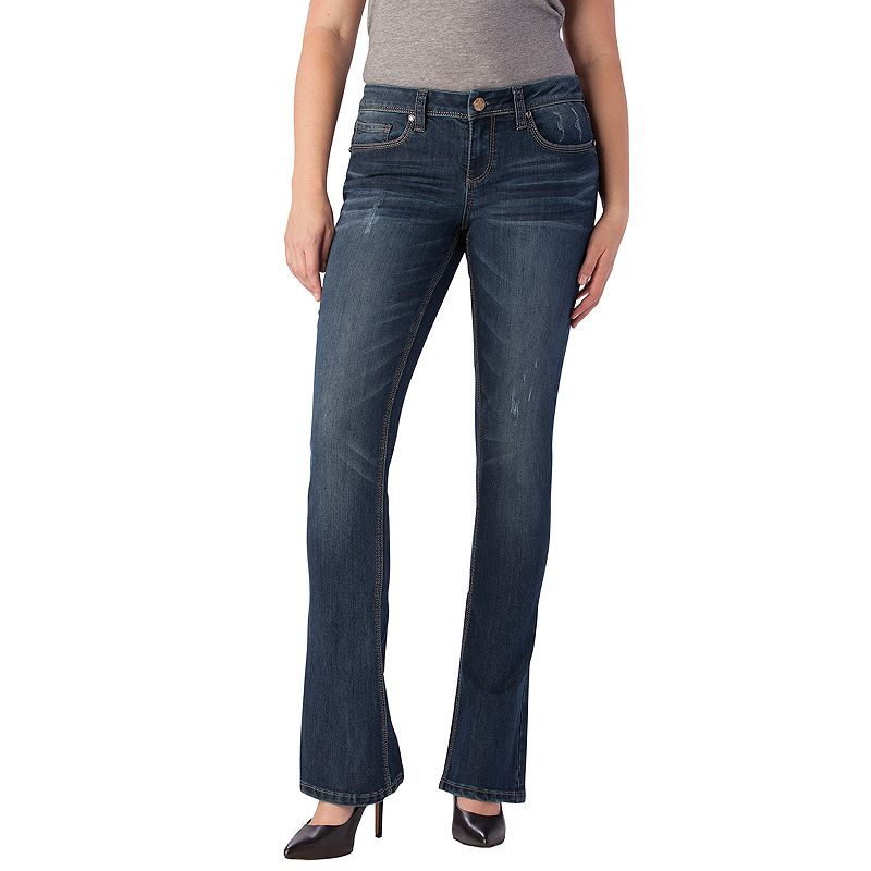 Seven7 Distressed Bootcut Jeans - Women's