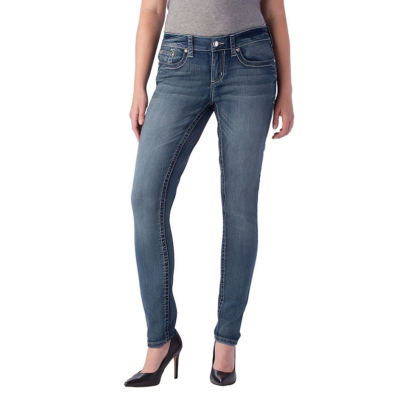 Seven7 Faded Skinny Jeans - Women's