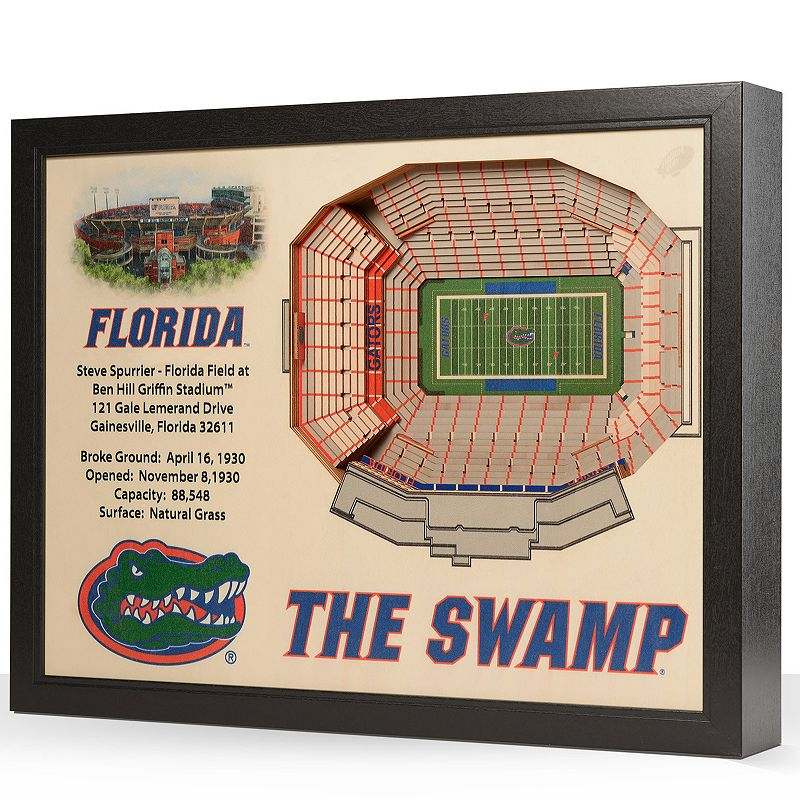 Florida Gators StadiumViews 3D Wall Art