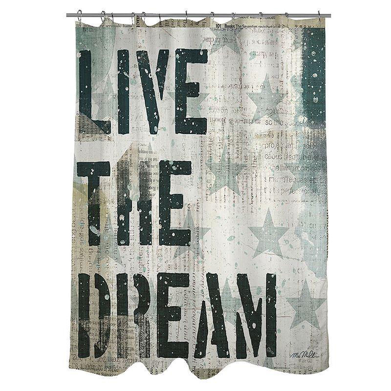 Thumbprintz ''Live The Dream'' Fabric Shower Curtain