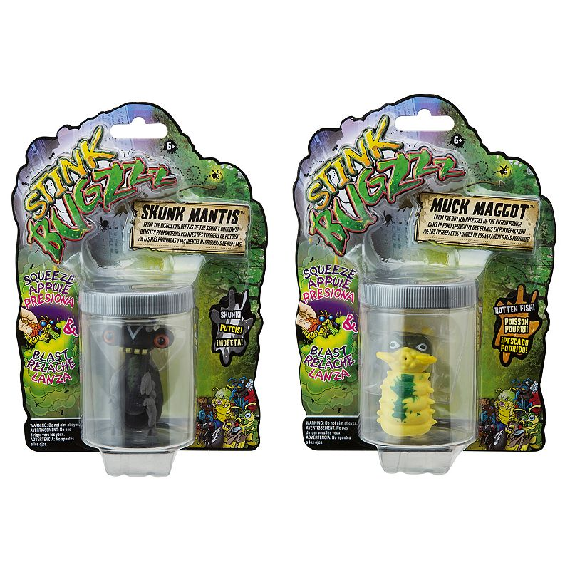 Kohl S Toys For Boys : Stink bugzzz pc skunk mantis muck maggot figure set