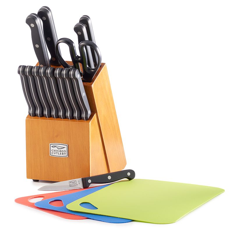 Chicago Cutlery Essence 18-pc. Knife Block Set with Chopping Mats