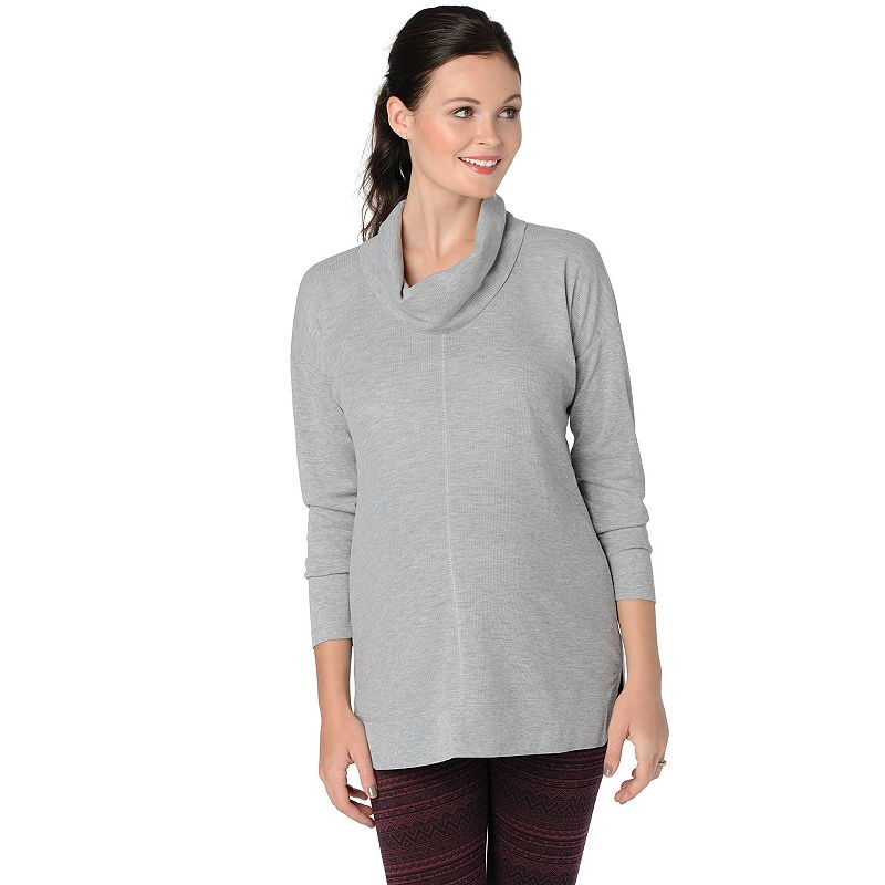 Maternity Oh Baby by Motherhood™ Drop-Shoulder Cowlneck Thermal Top