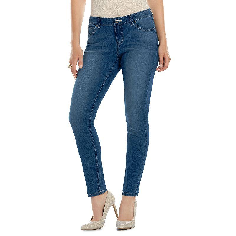 Women's Jennifer Lopez Skinny Jeans, Size: 0 SHORT, Med Blue