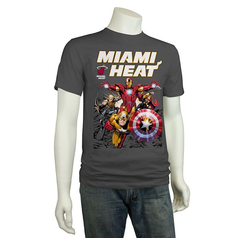 Men's Miami Heat The Avengers Heat Up Tee