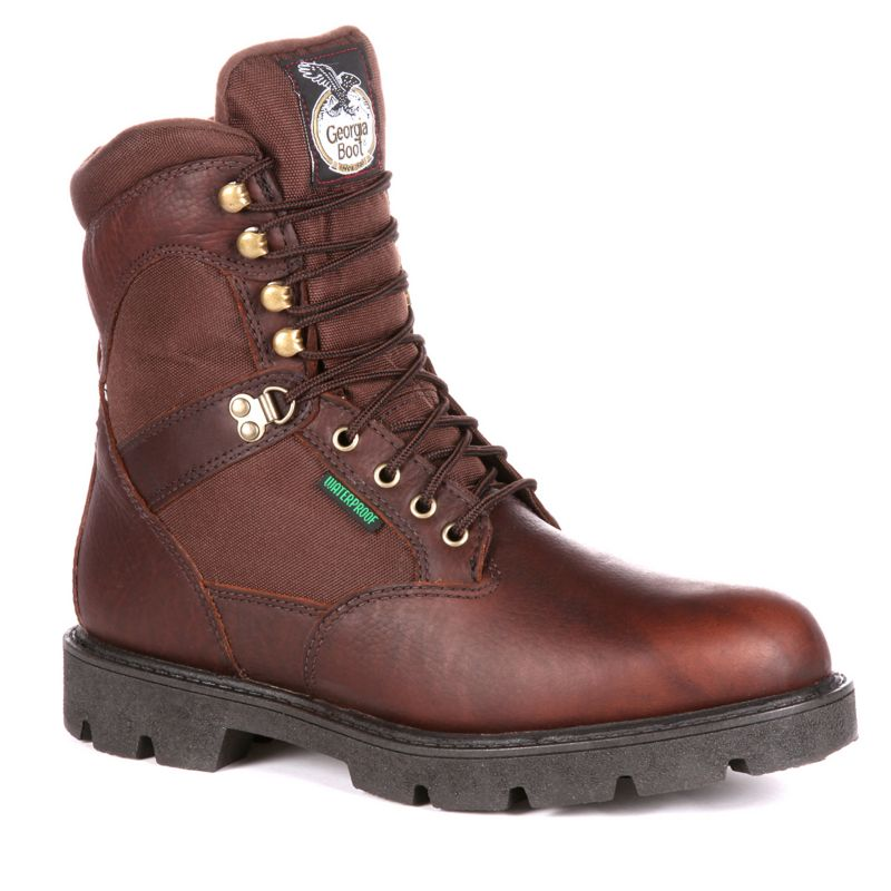Georgia Boot Homeland Men's 8-in. Waterproof Insulated Work Boots, Size: medium (8), Brown thumbnail
