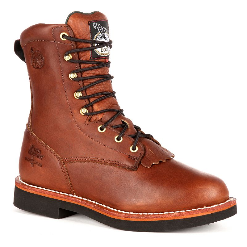Georgia Boot Farm and Ranch Lacer Men's 8-in. Work Boots